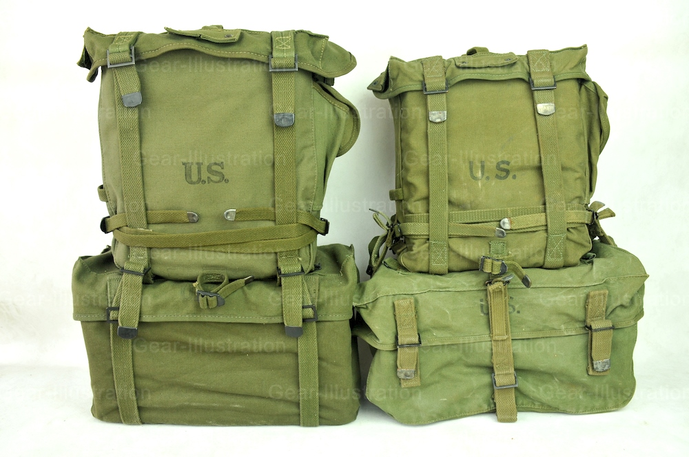 M1944 & M1945 Pack System – Gear Illustration