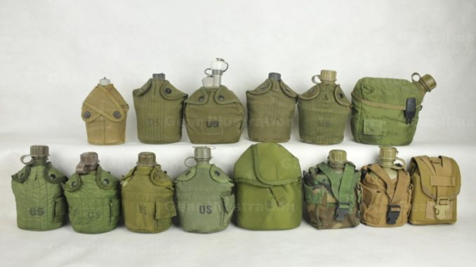 Canteen Cover Collection 1940s – 2007 – Gear Illustration